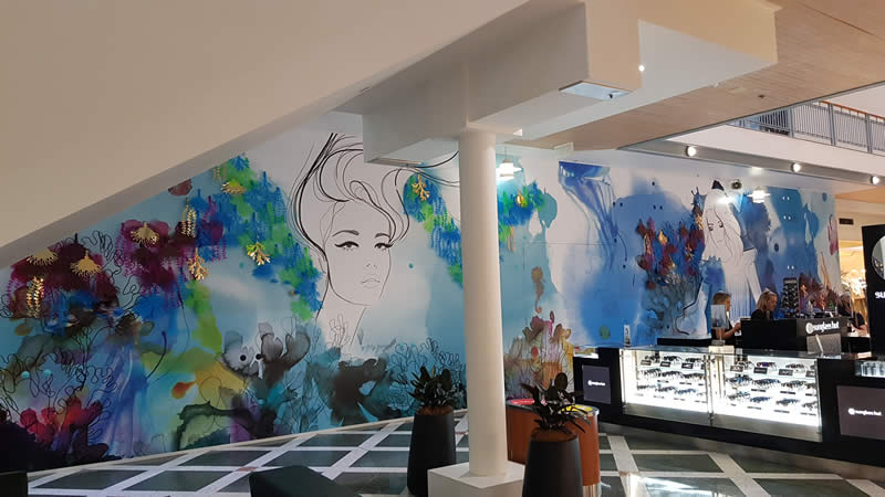 Digitally Printed Mural With Sparkly Features